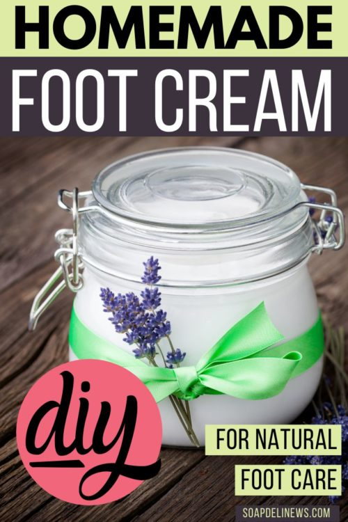 Foot cream recipe with lavender & peppermint essential oils for natural foot care. Learn how to naturally care for dry, cracked feet and skin with this homemade foot cream recipe made with lavender and peppermint essential oils. A simple effective dry skin remedy for feet with cooling peppermint essential oils and optional menthol crystals. The best homemade peppermint foot cream recipe for your natural skin care routine.