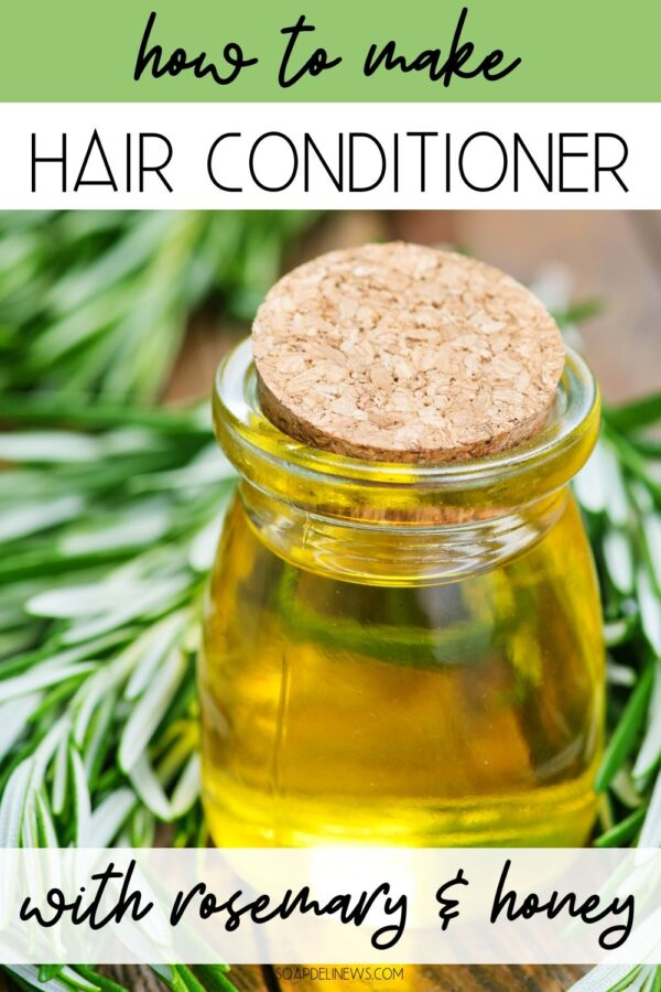 Hair conditioner DIY. How to make a natural rosemary honey hair conditioner recipe for your natural hair care routine. Moisturize dry hair with this simple green beauty DIY.