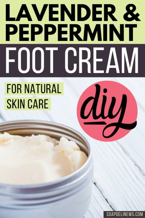 Foot cream recipe. Make this lavender & peppermint foot cream recipe with essential oils to tackle your dry, cracked feet. You'll love how easy this lavender & peppermint foot cream recipe is to make! Packed with hydrating natural ingredients, this natural foot care DIY moisturizes skin and promotes skin health. Your feet will look and feel healthier thanks to the rich, skin loving ingredients this natural skin care recipe is formulated with. Also be sure try it on achy, tired legs.