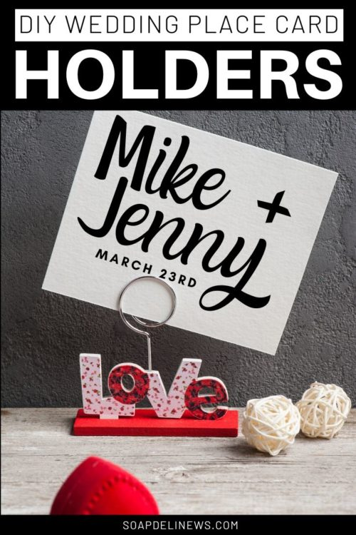 Budget friendly DIY wedding place card holders
