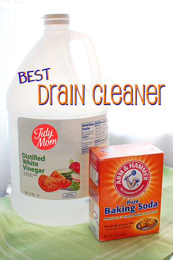 Tidy Mom has an excellent recipe for making an all natural, homemade drain cleaner using just baking soda and vinegar. Not only is it a LOT cheaper than buyer chemical drain cleaners, but it's non-toxic and won't harm the environment. Plus, it really does work.