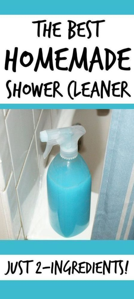 Best homemade shower cleaner recipe for a natural, non-toxic clean in your home. Simply mix equal parts of vinegar and Dawn together in a spray bottle and you're set for the cleanest bathroom ever! #cleaning #cleaningtips #cleaninghacks #tipsandtricks #bathroomcleaning #cleaners #nontoxic