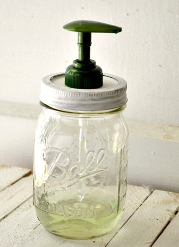 DIY Mason Jar Soap Dispenser Projects