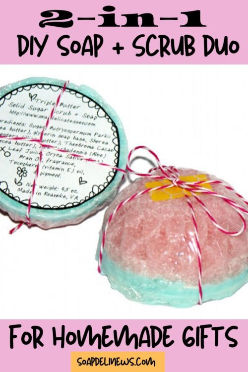 Soap Sugar Scrub Bars DIY. Learn how to make these DIY soap sugar scrub bars to cleanse and exfoliate skin in one easy step. These homemade sugar scrub bars with soap are the perfect addition to your skin care routine for soft skin. Plus this easy soap sugar scrub recipe create lovely handmade products that are perfect for gift giving! Learn how to make your own soap sugar scrub bars in fun flower shapes for Valentine's Day gifts, Easter basket fillers or even homemade Mother's Day gifts.