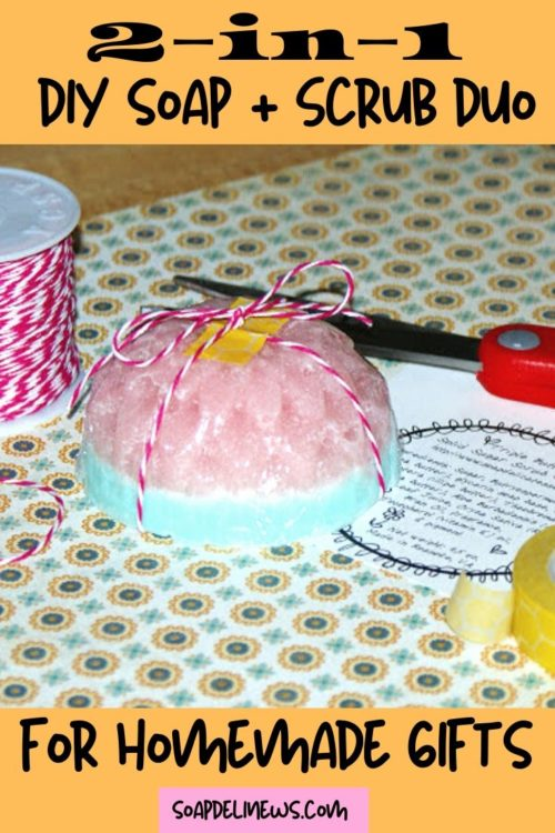 How to make Soap Sugar Scrub Bars. And easy melt and pour soap recipe for beginners. Learn how to make these DIY soap sugar scrub bars to cleanse and exfoliate skin in one easy step. These DIY sugar scrub bars with soap are the perfect addition to your skin care routine for soft skin. Plus this easy soap sugar scrub recipe create lovely handmade products that are perfect for gift giving! Make these homemade soap sugar scrub bars in fun flower shapes for homemade gifts throughout the year.