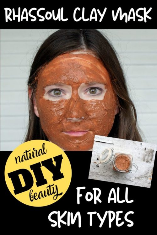Homemade facial masks for acne prone, dry & even sensitive skin. Make this DIY Rhassoul Clay Mask Recipe with essential oils for all skin types -- including acne prone, oily, dry skin, sensitive skin & maturing skin. This natural Rhassoul clay mask recipe makes a lovely addition to your natural beauty regimen for glowing, healthy looking skin. Add this DIY clay face mask recipe to your natural skin care routine for soft beautiful skin. A great facial care product you can make at home.