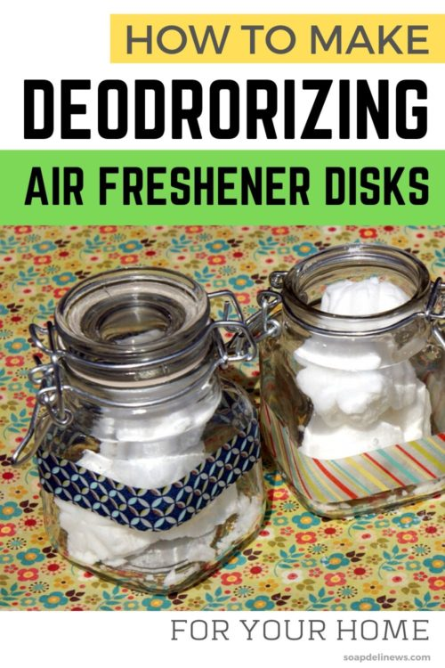 DIY deodorizing air fresheners. Learn how to make natural deodorizing air freshener disks with essential oils to freshen your home naturally with this easy DIY project. Make your own custom scented, deodorizing air freshener disks for a fresh, non-toxic clean in your home. These flower shaped, deodorizing air freshener disks are easy to make and can be used anywhere in your home! Natural ways to deodorize your home using essential oils. Frugal homemaking tips and tricks for a fresh scent.