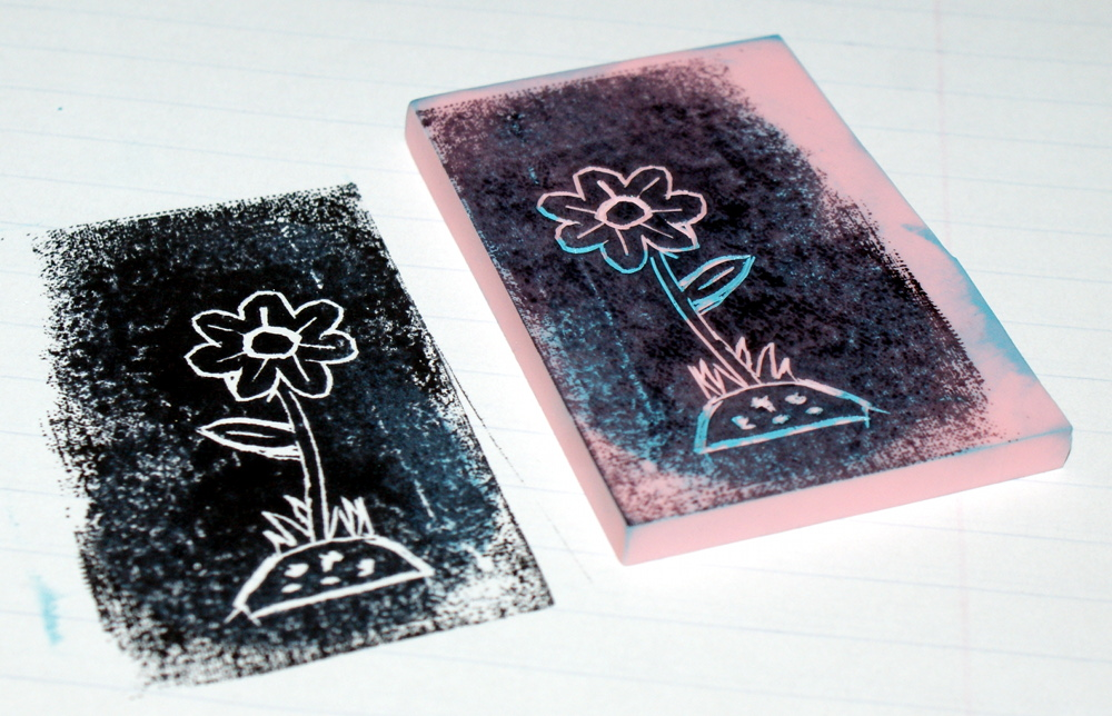 Hand Carved Stamp DIY - Handmade Flower Stamp