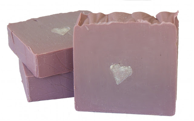 This cold process skin loving homemade soap recipe nourishes and conditions skin with ingredients like avocado oil and shea butter. Makes a lovely homemade gift idea for Valentine's Day or Mother's Day.