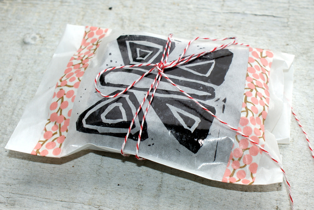Handmade Soap Packaging - Use a Glassine Bag, Baker's Twine and Hand Carved Custom DIY Stamp
