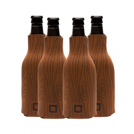 Father's Day Gift Idea - Wood Grain Beer Koozies with Zippers