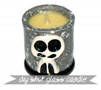 Handmade Father's Day GIft Idea - DIY Skully Shot Glass Candle