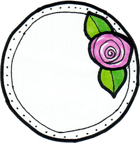 Printable Round Pink Rose Labels - These Make Lovely Gift Tags and Bath and Beauty Product Labels