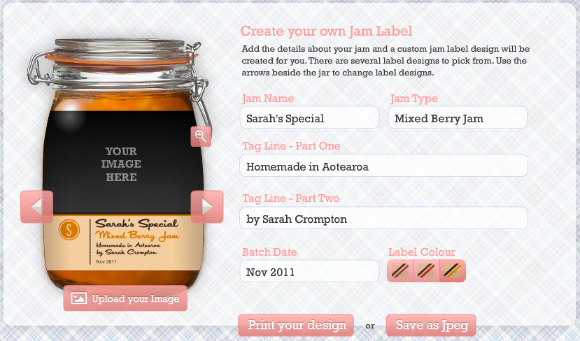 Customizable DIY Jam Labels - These are great for crafting homemade wedding favors and more!