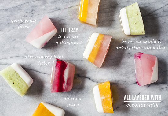DIY Homemade Summer Smoothie Ice Cubes Recipe
