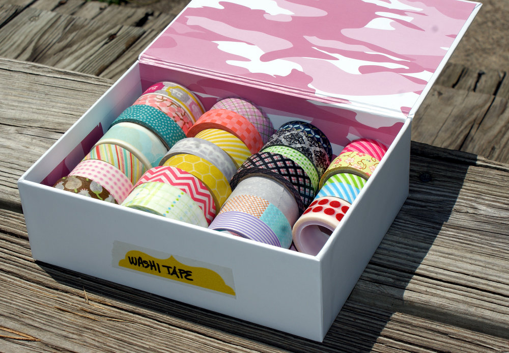 DIY Washi Tape Storage Box Idea for Easily Organizing Your Washi Tape