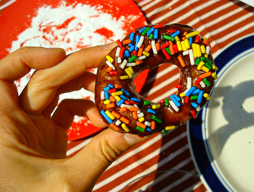 Easy Homemade Doughnut Recipe via Cake Spy - Make Donuts From Canned Biscuit Dough - Great Family Project