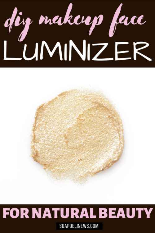 DIY Makeup Face Luminizer. How to make a DIY face luminizer recipe to highlight & accent eyes, cheekbones & lips! It gives skin natural looking highlights for beautiful glowing skin. Easy natural mineral makeup recipes. Learn how to make your own custom cosmetics at home. Save money making your favorite clean beauty, non-toxic eco-luxe beauty products.