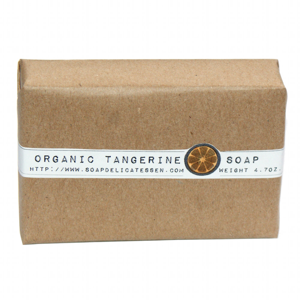 Handmade Organic Tangerine Glycerin Soap from Rebecca's Soap Delicatessen at http://shop.soapdelicatessen.com