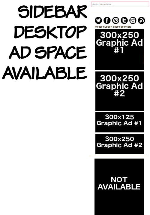 Advertising space on Soap Deli News blog
