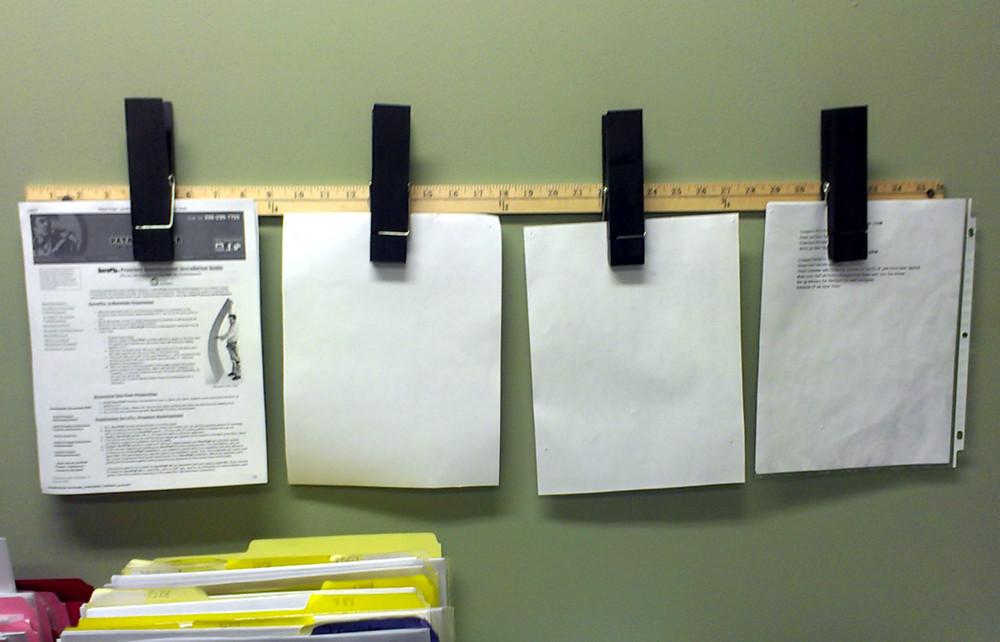 DIY Ruler Clip Board Organizer