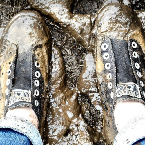 Muddy Converse tennis shoes courtesy of Floyd Fest 12 Rise and Shine