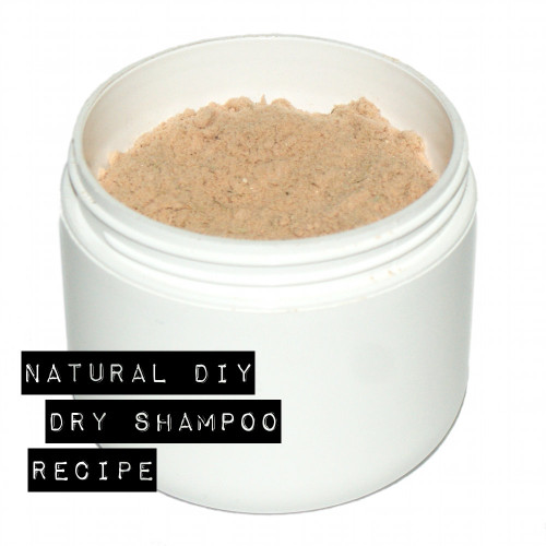 This natural homemade dry shampoo recipe is void of cornmeal and instead uses ingredients like arrowroot powder, colloidal oatmeal, cosmetic clays, and herbs.