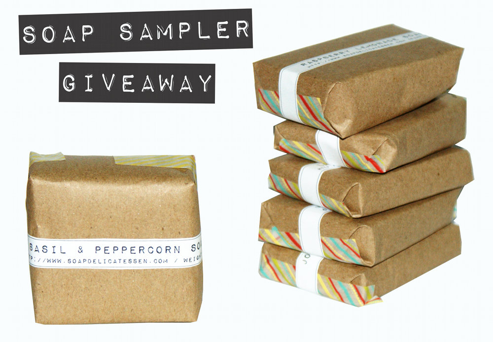 DIY Homemade Soap Sampler Giveaway - Pin these natural homemade soap recipes from Soap Deli News Blog for a chance to win a sampler of all seven soaps and a natural face luminizer!