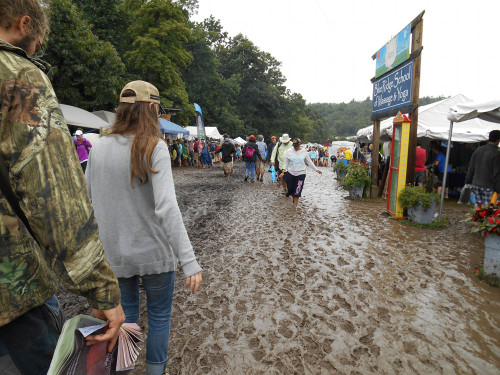 The Eternal Mud Walkway - Floyd Fest 12 becomes a Mud Fest