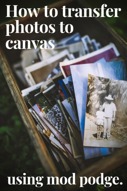 How to Transfer Photos to Canvas Using Mod Podge. Don't let your old school photos sit a box collecting dust. Hang them on your wall instead! Learn how to transfer photos to canvas using Mod Podge with this easy weekend craft tutorial.