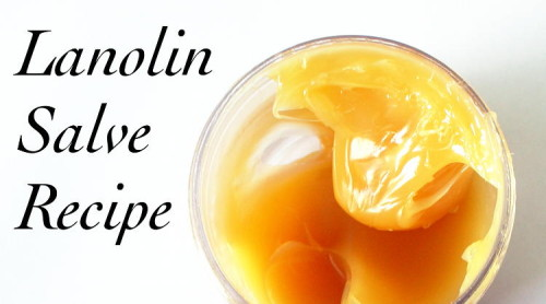 DIY Handmade Natural Lanolin Salve Recipe - Wonderful for Dry, Cracked Skin or Minor Scrapes and Scratches That Need A Little Love