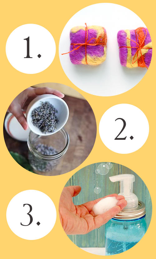 Creative DIY Soap Projects - How to Felt Soap, Make a Lavender Mint Olive Oil Infusion for Your Cold Process Soap Recipes, and Craft a DIY Mason Jar Foaming Soap Dispenser for Your Liquid Soaps