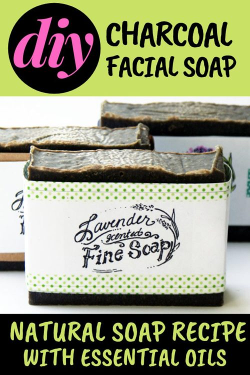 Need facial soap recipes? This DIY facial soap recipe with activated charcoal is the perfect homemade facial soap bar for acne prone skin. Made with essential oils activated charcoal & botanical ingredients this homemade charcoal soap recipe makes a lovely addition to your natural skin care routine. This cold process facial soap recipe is the perfect skin care product for your beauty regimen to use as a natural facial cleanser to fight & prevent acne. Natural soap recipe for anti-acne skin care.
