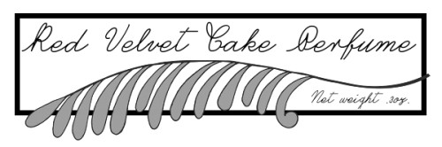 Free Printable Label Download for DIY Red Velvet Cake Perfume Oil