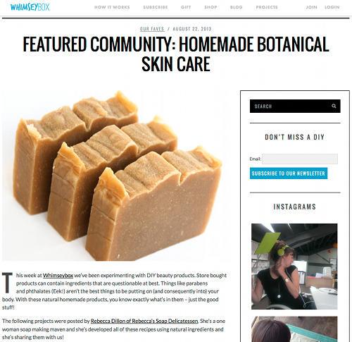 Rebecca's Soap Delicatessen WhimseyBox Blog Feature
