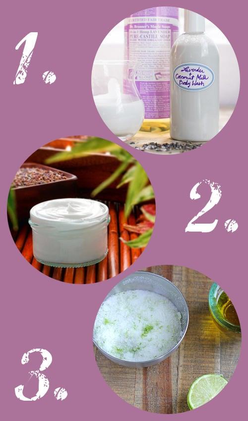 DIY Bath and Body Recipes - Coconut Milk Body Wash, Whipped Body Butters, and a Margarita Salt Scrub