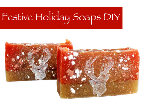 DIY Festive Holiday Frosted Cranberry Coconut Milk Soap Recipe