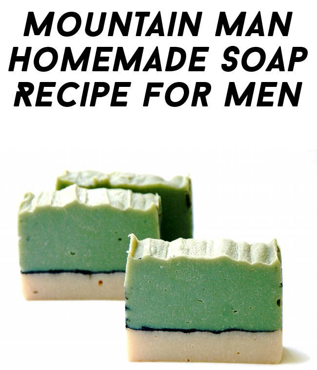 Mountain Man Homemade Detox Soap Recipe for Men with Free Printable Labels for Gifting