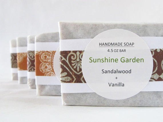 Sandalwood and Vanilla Scented Soap from Sunshine Garden