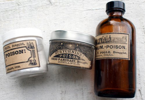 Printable Halloween Labels - Vintage Apothecary Bottle Poison Labels