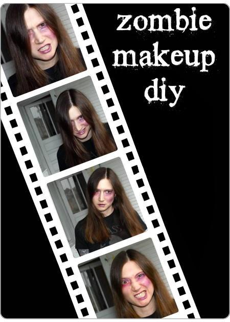 Handmade Zombie Halloween Makeup DIY