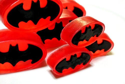 Handmade Batman Soaps from Sky Rain Soap