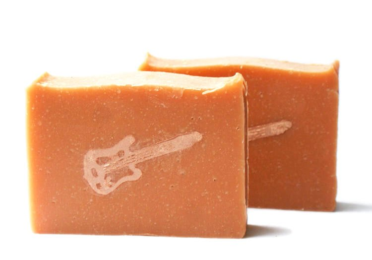 Electric guitar candied orange soap recipe Diy homemade soap recipe