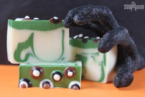 DIY Spooky Halloween Eyeball Cold Process Soap Tutorial and Recipe