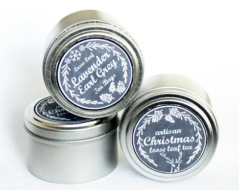 Homemade Christmas Gift and Stocking Stuffer Idea - Easy DIY Holiday Tea Tins with Chalkboard Labels