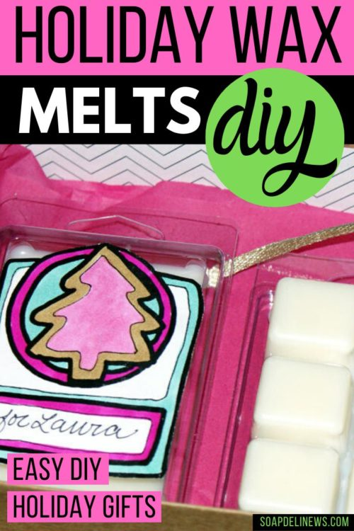 Holiday DIY wax melts. Learn how to make seasonal holiday scented DIY Christmas wax melts to scent your home with your favorite holiday fragrances. This easy holiday project also makes lovely DIY gift for coworkers, friends and family. And the kids can help color in the free printable labels for the DIY wax melts you create! Learn how to make your own DIY holiday wax melts. Plus where to buy your favorite holiday fragrance oils.