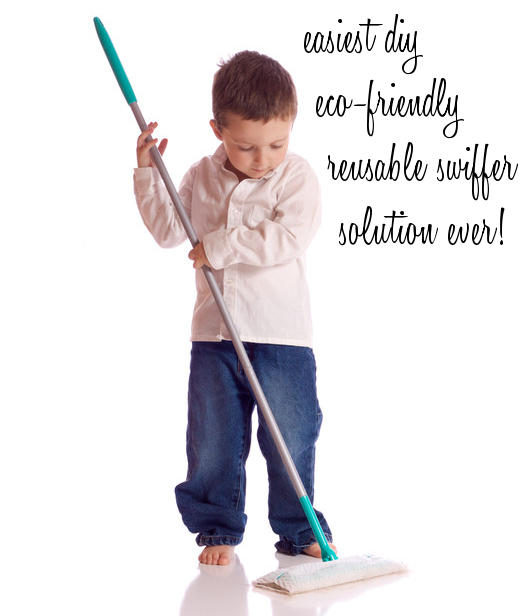 Easiest Ever DIY Eco-Friendly Reusable Swiffer Pad Solution