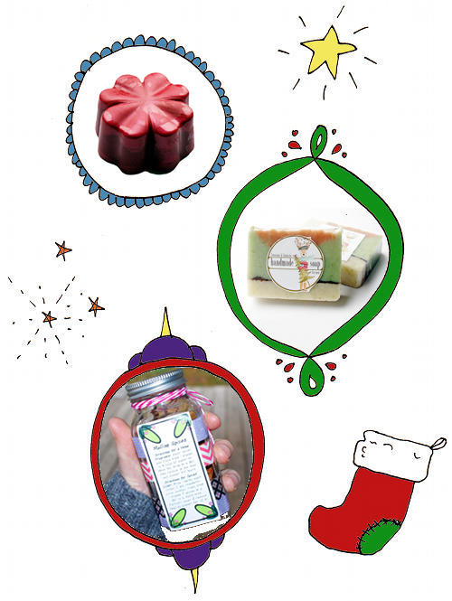Handmade Christmas Gift Ideas with Printable Labels