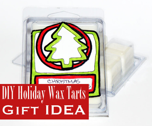 DIY Homemade Holiday Wax Tart Melts Gift Idea with Printable Labels