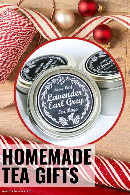 Homemade Tea Gifts for the Holidays with Printable Chalkboard Labels. Make simple homemade tea gifts for DIY Christmas gifts for the holidays with this easy, homemade holiday tea gift idea. All you need are a few metal tins, some tea and the free printable labels. These are perfect for last minute handmade gifts as well as an element in homemade tea gift baskets!